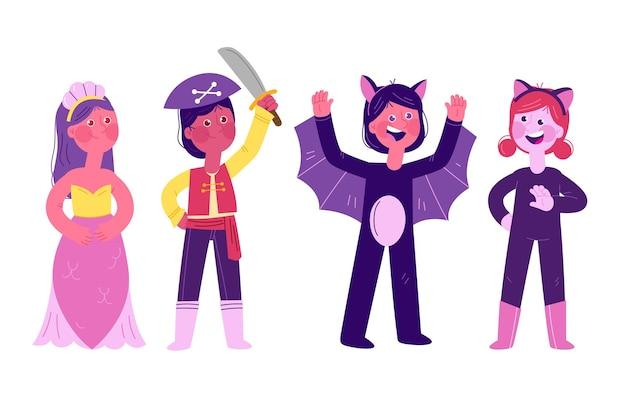 Zestaw Dla Dzieci Halloween Darmowych Wektorów