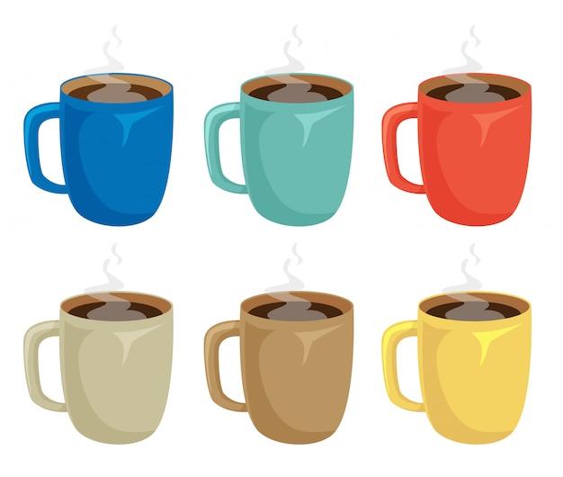 Zestaw Do Kawy Premium Wektorów