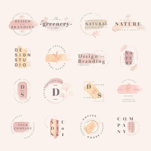 Zestaw do projektowania logo Darmowych Wektorów