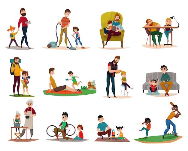 Zestaw Do Wychowywania Dzieci Darmowych Wektorów