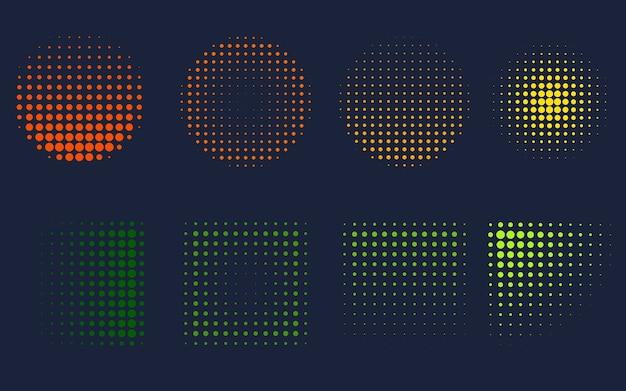 Zestaw Efektu Gradientu Hologramu Premium Wektorów