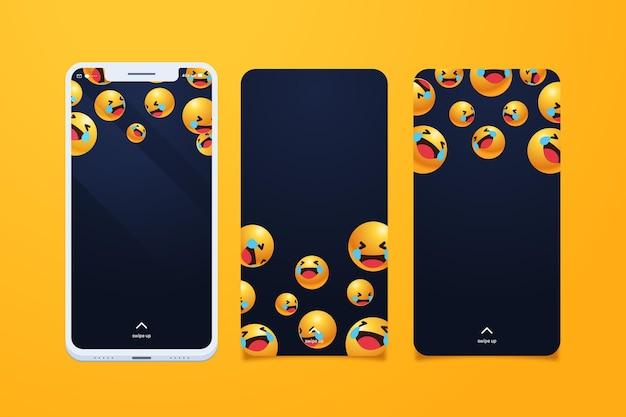 Zestaw Ekranów Smartfonów Darmowych Wektorów