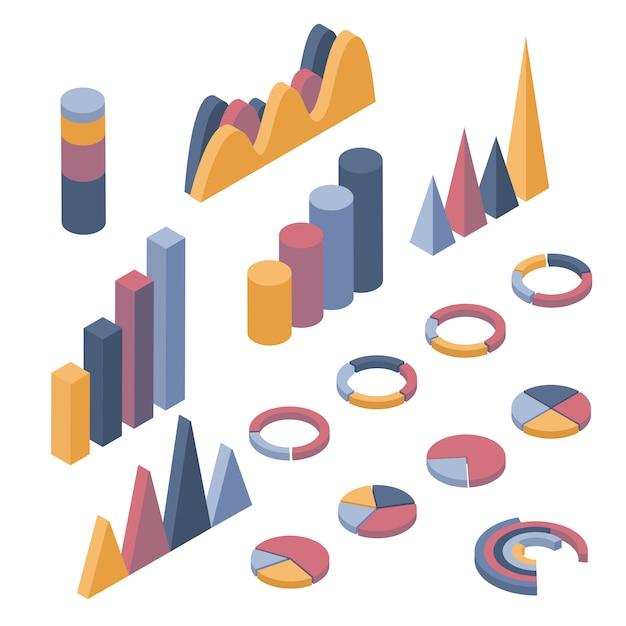 Zestaw elementów biznesowych, infografiki i diagramy. Premium Wektorów