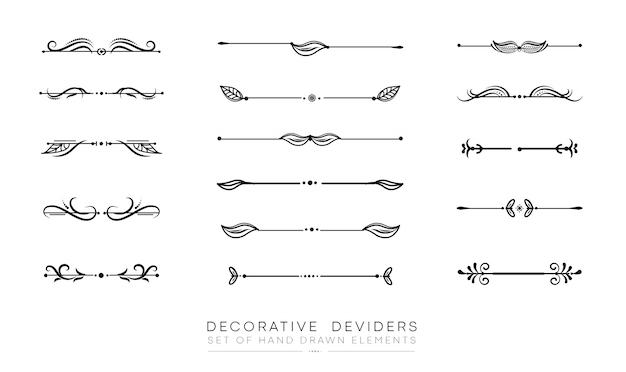 Zestaw Elementów Dekoracyjnych Premium Wektorów