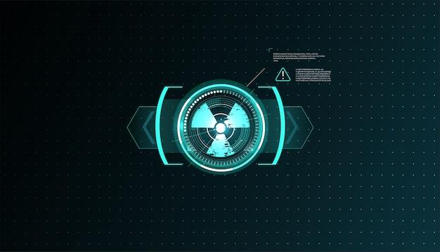 Zestaw Elementów Ekranu Futurystycznego Interfejsu Użytkownika Hud Ui Gui. Premium Wektorów