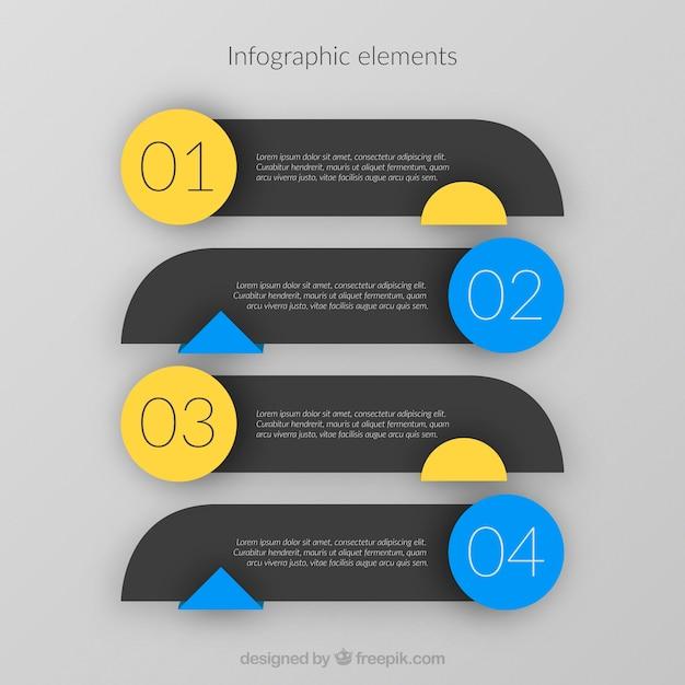 Zestaw Elementów Infograficznych Darmowych Wektorów
