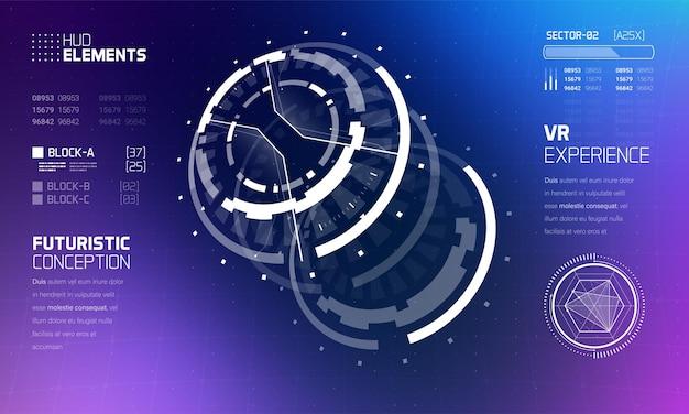 Zestaw Elementów Interfejsu Hud 3d Futurystycznej Technologii. Premium Wektorów