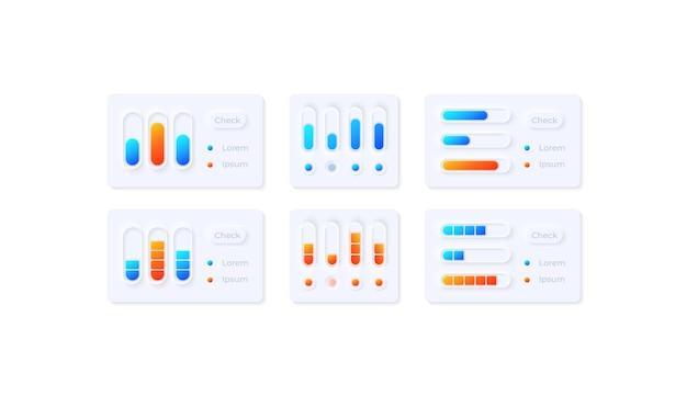 Zestaw Elementów Interfejsu Użytkownika Ustawień Multimediów Premium Wektorów
