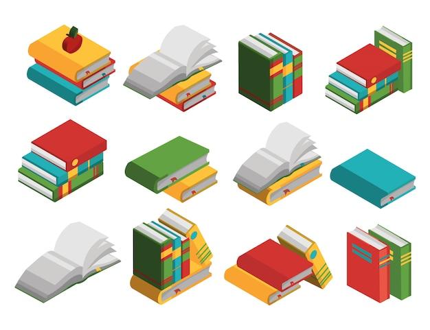 Zestaw Elementów Izometrycznych Podręczników Szkolnych Darmowych Wektorów