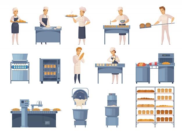 Zestaw Elementów Piekarniczych Darmowych Wektorów