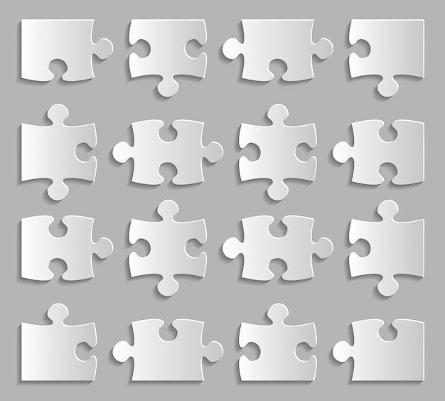 Zestaw Elementów Układanki Premium Wektorów