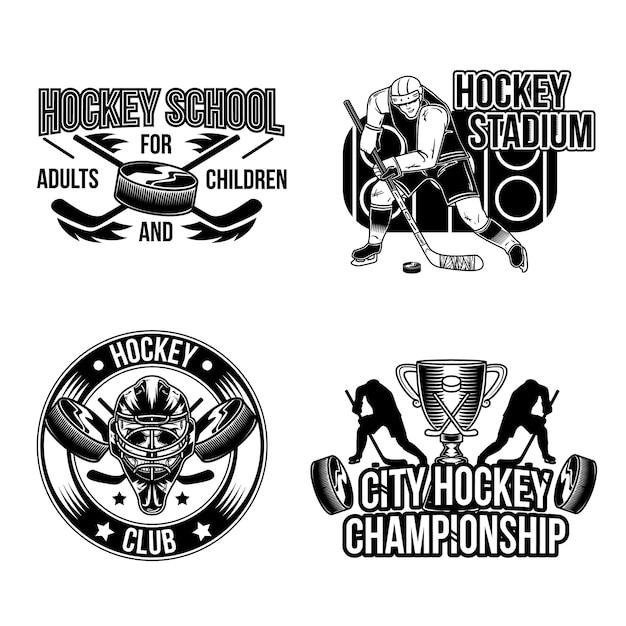 Zestaw Emblematów Hokejowych Darmowych Wektorów
