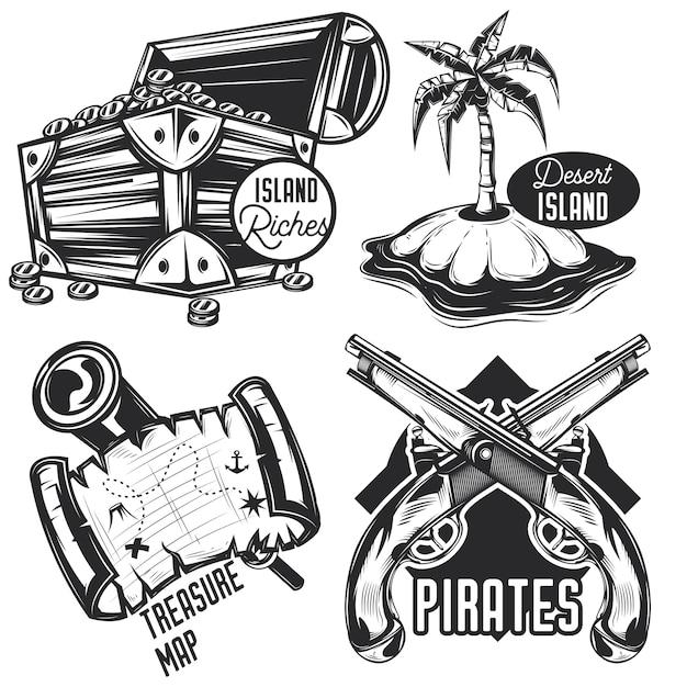 Zestaw Emblematów Skarbów, Etykiet, Odznak, Logo. Darmowych Wektorów