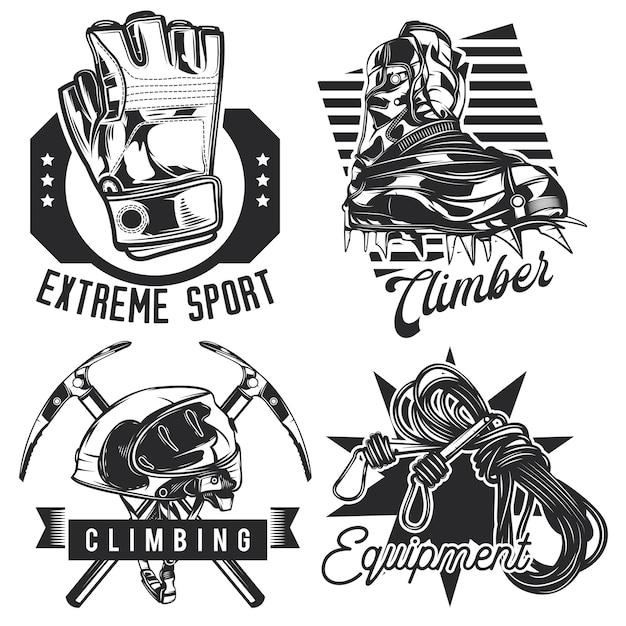 Zestaw Emblematów Turystycznych, Etykiet, Odznak, Logo. Na Białym Tle Darmowych Wektorów