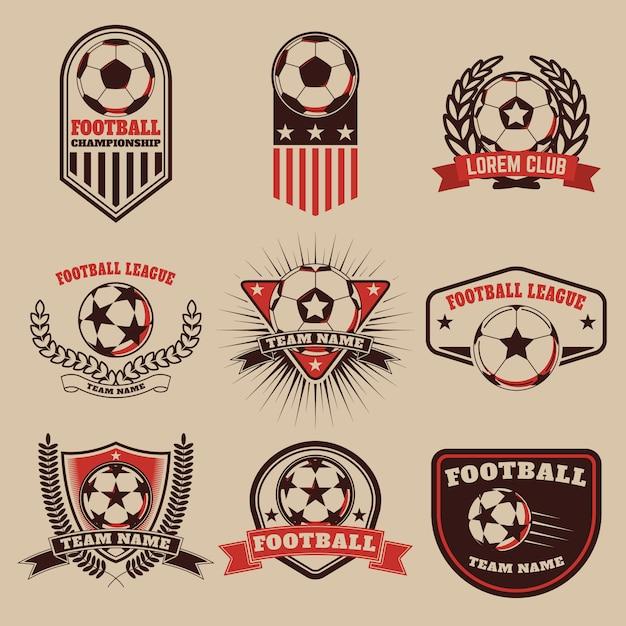 Zestaw etykiet piłkarskich Premium Wektorów