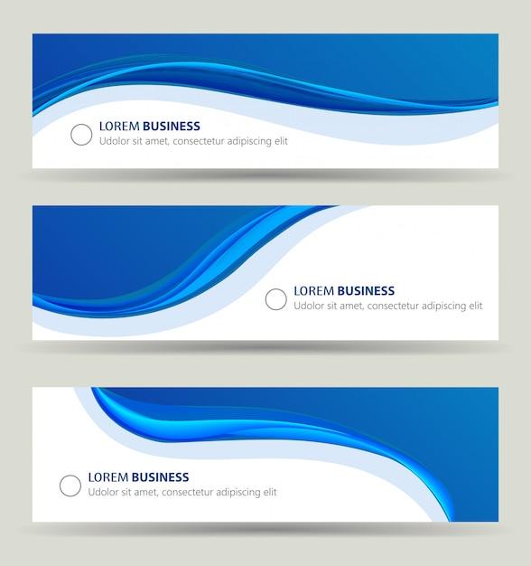 Zestaw Fala Transparent Biznes Premium Wektorów