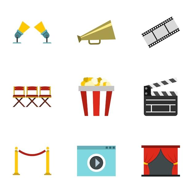 Zestaw Filmowy, Płaski Premium Wektorów
