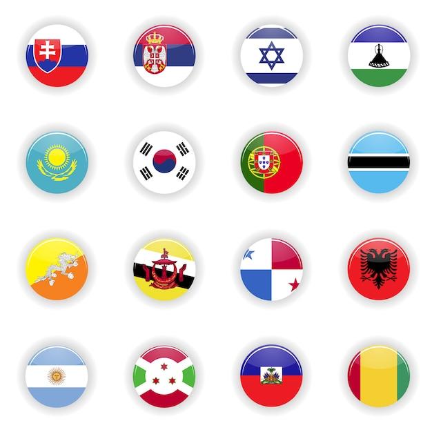 Zestaw flag Premium Wektorów