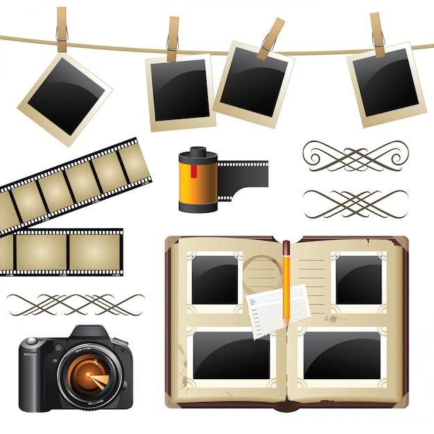 Zestaw fotograficzny Premium Wektorów