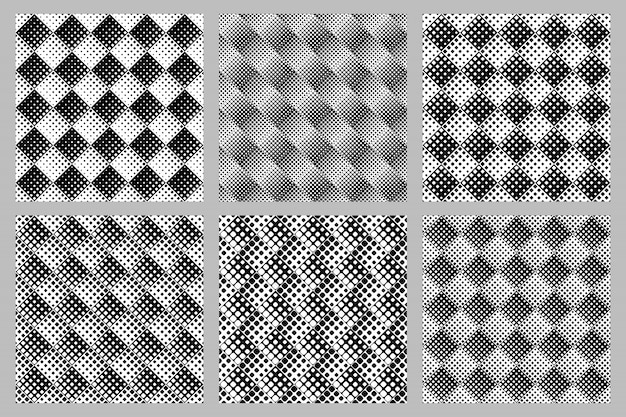 Zestaw Geometryczny Wzór Kwadratowy Tło - Abstrakcyjne Wzory Wektorowe Premium Wektorów