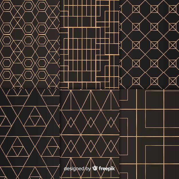 Zestaw geometryczny wzór luksusu Darmowych Wektorów