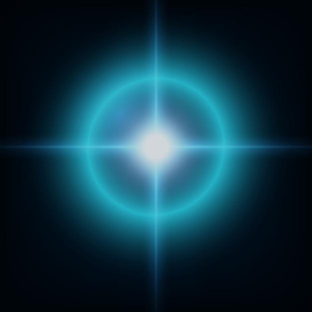 Zestaw gwiazd efekt światła blasku wybuchy z błyszczy na czarno Premium Wektorów