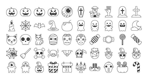 Zestaw Halloween Darmowych Wektorów