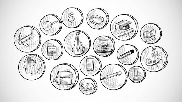 Zestaw Ikon Biznesowych Wyciągnąć Rękę Darmowych Wektorów