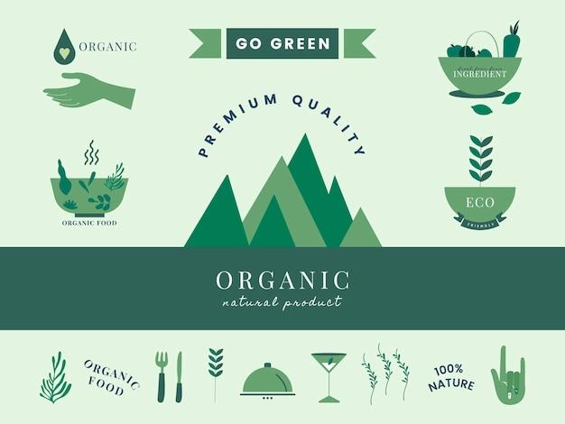 Zestaw ikon ekologicznych i zielone Darmowych Wektorów