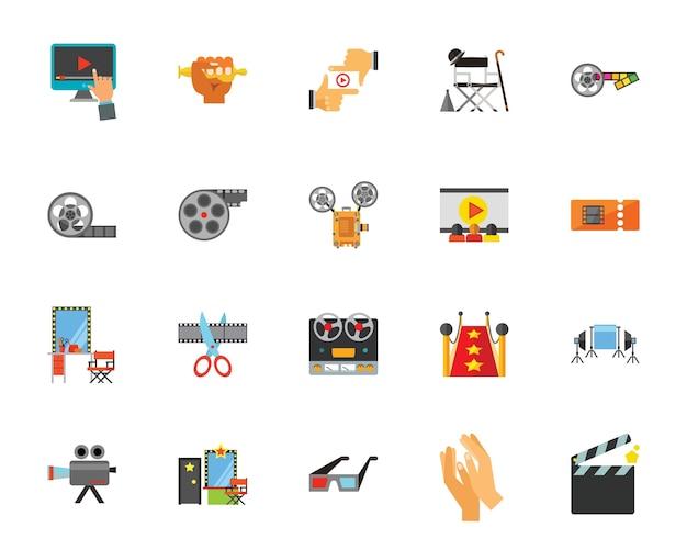 Zestaw ikon kina Premium Wektorów