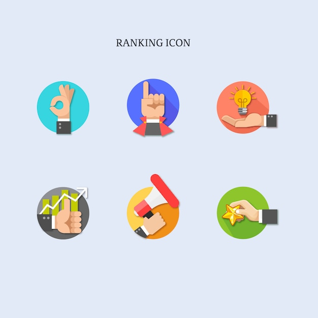 Zestaw Ikon Kolekcja O Rękach Premium Wektorów