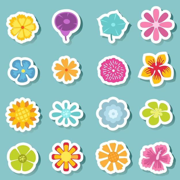 Zestaw Ikon Kwiatowych Premium Wektorów