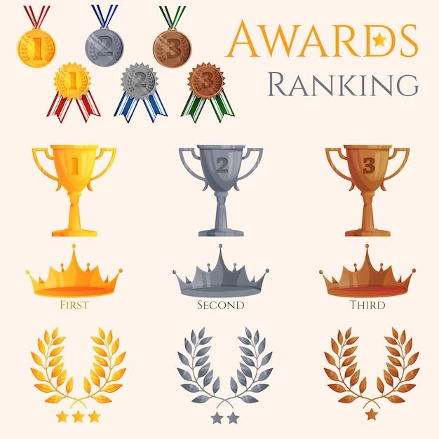 Zestaw ikon ranking Darmowych Wektorów
