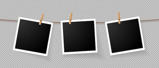 Zestaw Ikon Realistyczne Szczegółowe Zdjęcie Ikona Premium Wektorów