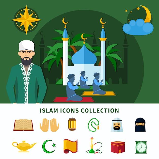Zestaw Ikon Religii Darmowych Wektorów