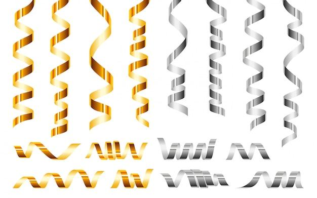 Zestaw Ikon Serpentyn, Realistyczny Styl Premium Wektorów