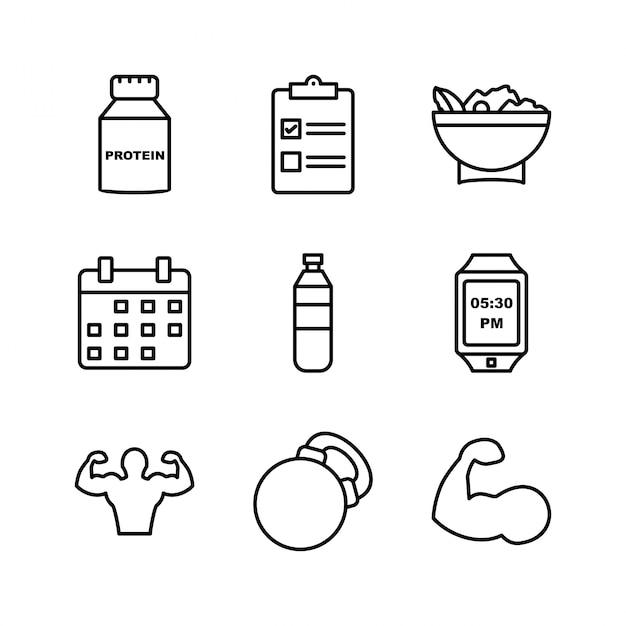 Zestaw Ikon Zdrowia Premium Wektorów