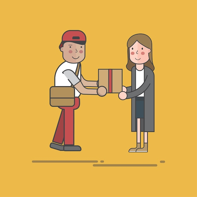 Zestaw ilustracji dostawy pocztowej Darmowych Wektorów