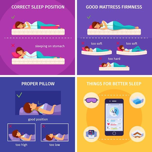Zestaw Izometryczny Kompozycji Better Sleep Darmowych Wektorów