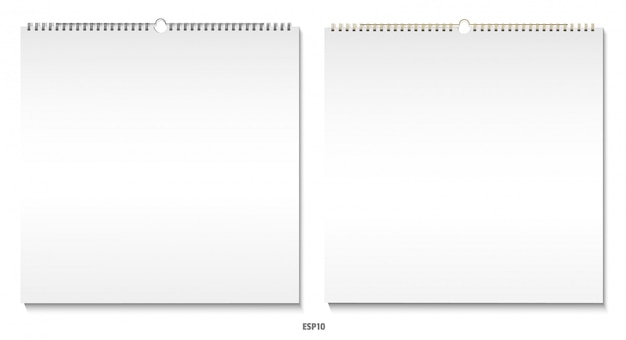 Zestaw Kalendarza Premium Wektorów