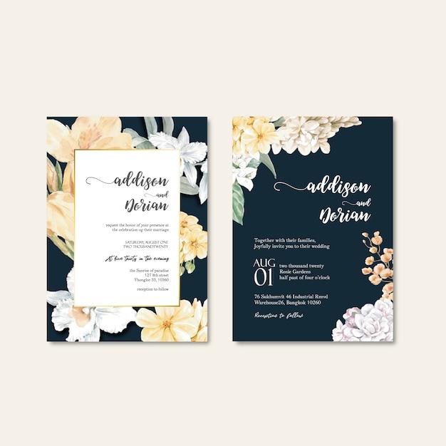 Zestaw kart do pielenia kwiatów Darmowych Wektorów