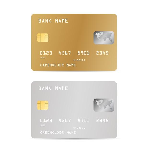 Zestaw Kart Kredytowych Banku Realistick Premium Wektorów