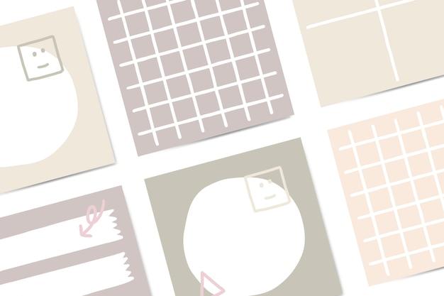 Zestaw Karteczek Samoprzylepnych Darmowych Wektorów
