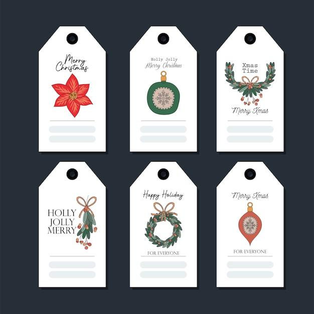 Zestaw Kartek świątecznych Na Czarny Ilustracja Projektu Premium Wektorów