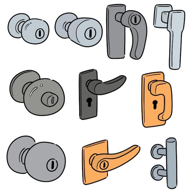 Zestaw klamki do drzwi Premium Wektorów