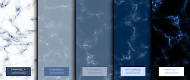 Zestaw kolekcja abstrakcyjny wzór marmuru Premium Wektorów
