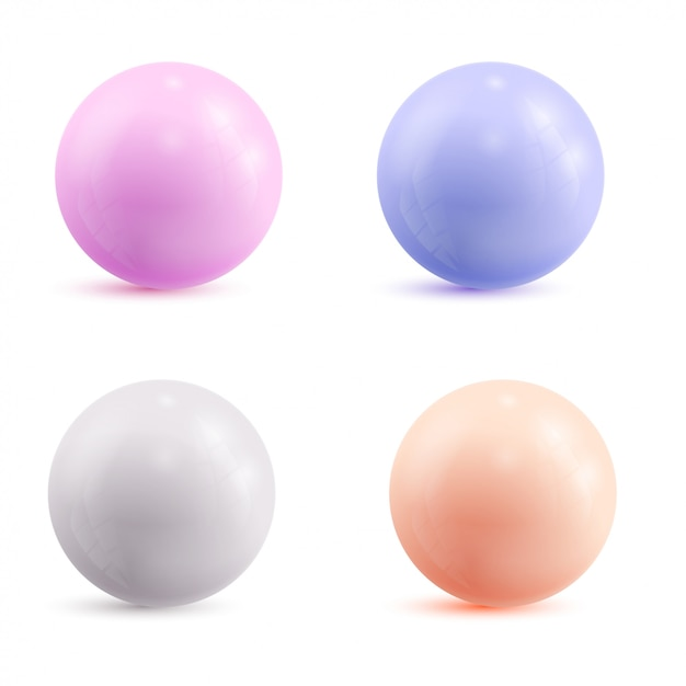 Zestaw kolorowych atomów. ilustracji wektorowych. Premium Wektorów