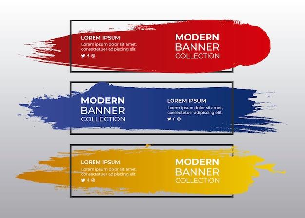 Zestaw Kolorowych Budżetów Malowanych Darmowych Wektorów