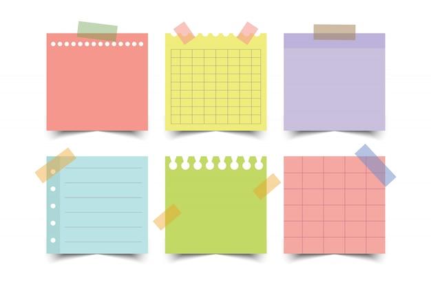 Zestaw Kolorowych Dokumentów. Ilustracja. Premium Wektorów
