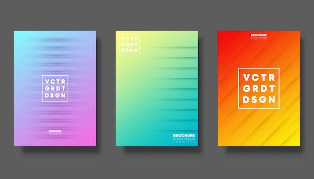 Zestaw Kolorowych Okładek Gradientu Premium Wektorów